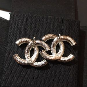 CHANEL Jewelry - Chanel Silver and Crystal Earrings